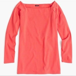 J. Crew Red Off Shoulder 3/4 Sleeve Top Size XL